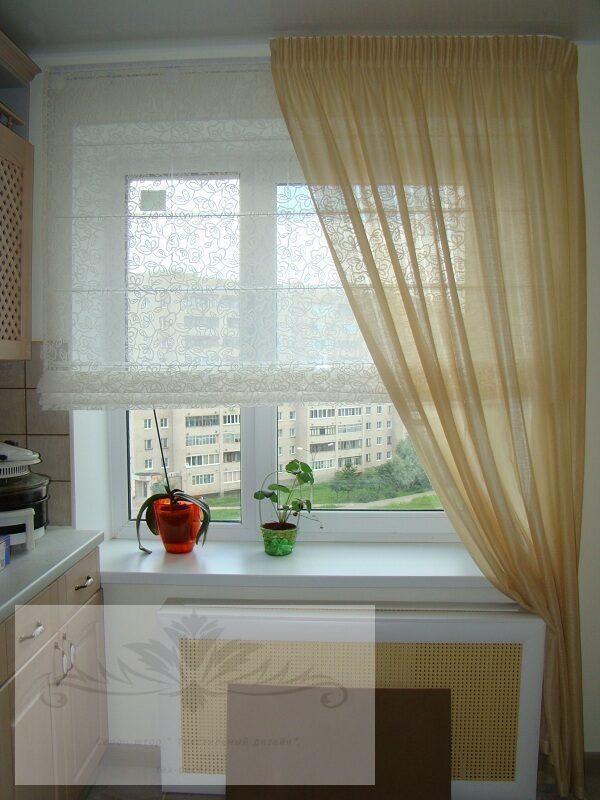 Дизайн римские шторы на кухню