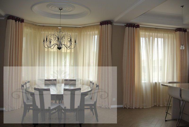 Шторы для гостиной столовой
