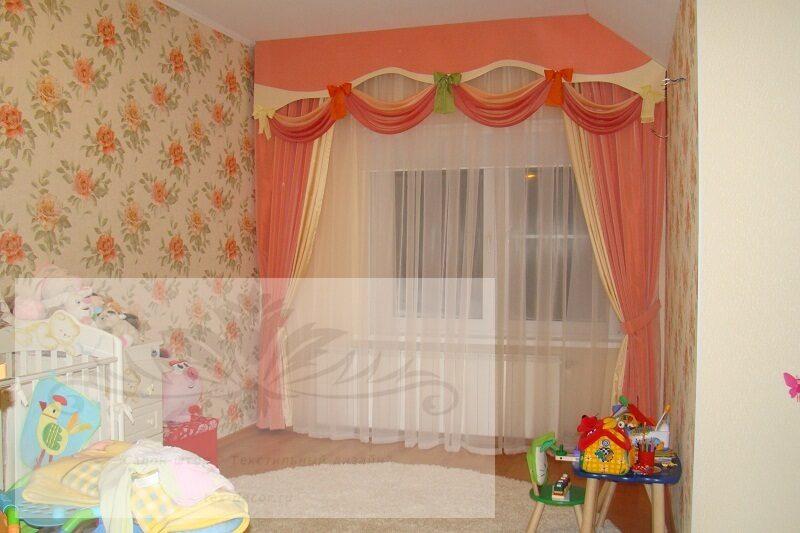 Дизайн детских штор фото