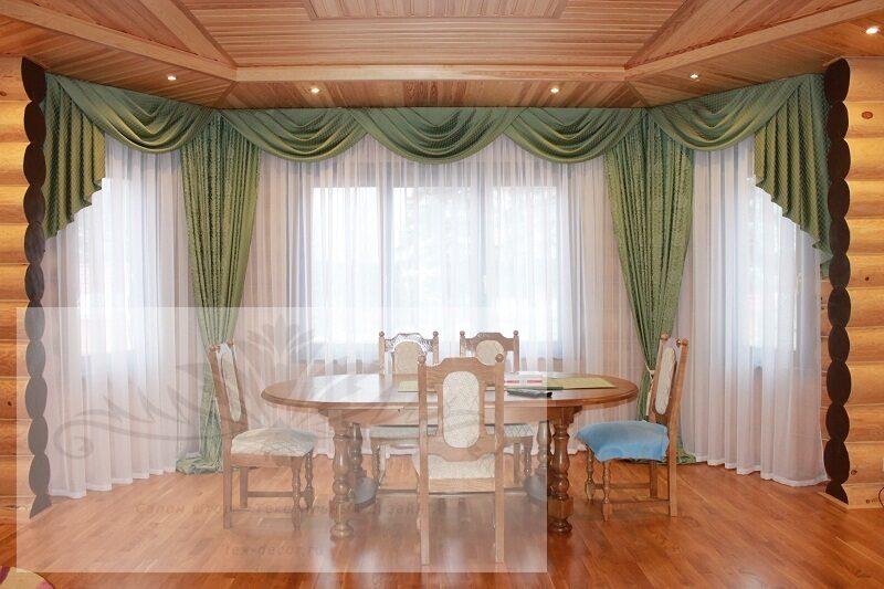 С ламбрекеном шторы для гостиной