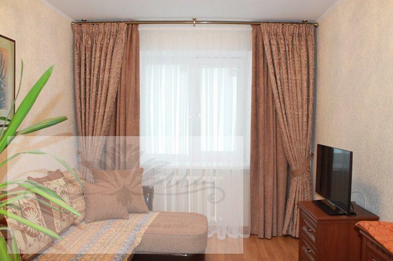 Двойные шторы для спальни фото